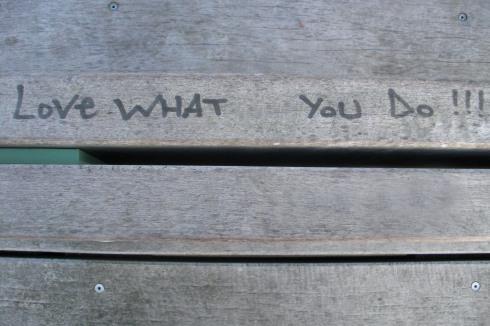 Graffiti on Public Bench