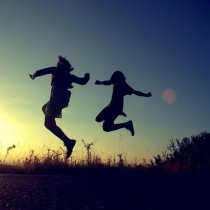 jumping happiness